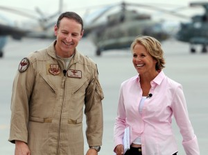 News Anchor Katie Couric visits Afghanistan